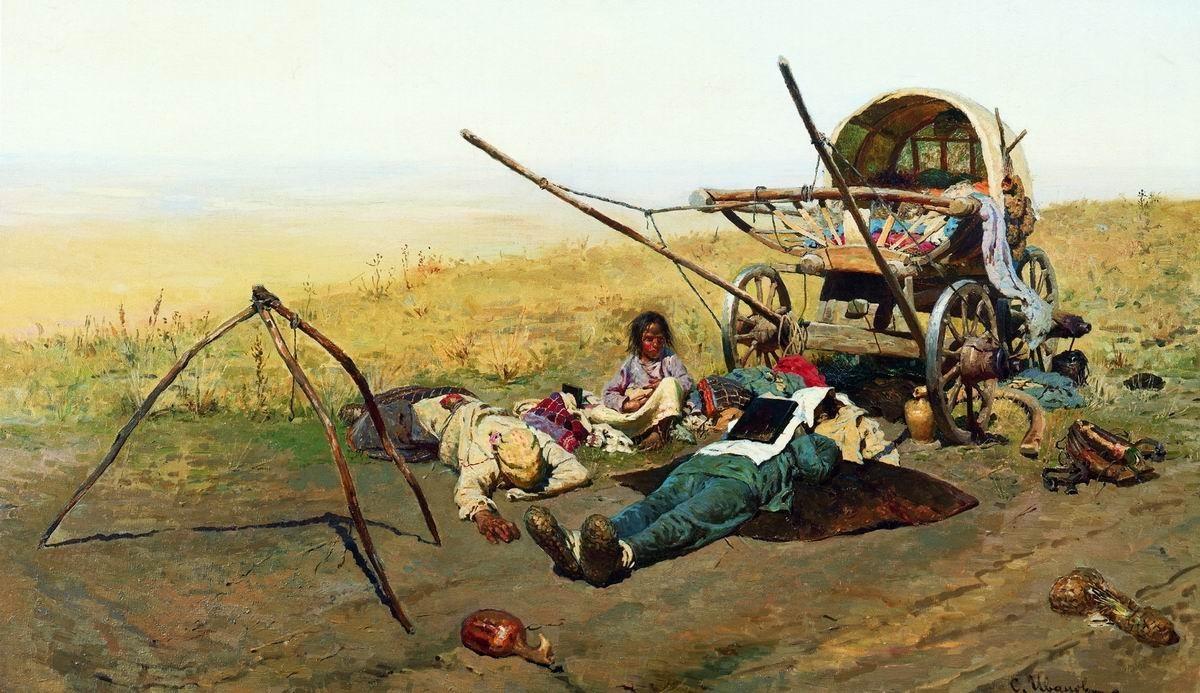 Иванов. В пути. Смерть переселенца (1889)