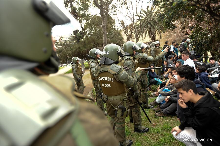 Чили. Протесты