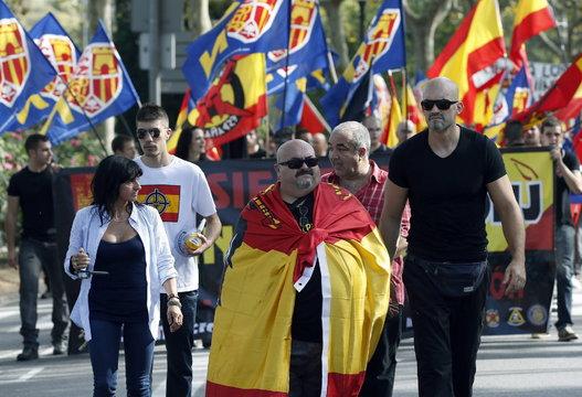 Митинг фалангистов в Каталонии